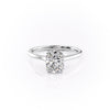 14k White Gold Elongated Cushion Solitaire Natalie, 2.62TCW  18k White Gold Elongated Cushion Solitaire Natalie, 2.62TCW