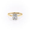 14k Yellow Gold Elongated Cushion Solitaire Natalie, 1.12TCW  18k Yellow Gold Elongated Cushion Solitaire Natalie, 1.12TCW