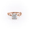14k Rose Gold Cushion Twig Emilly, 3.53TCW  18k Rose Gold Cushion Twig Emilly, 3.53TCW
