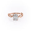 14k Rose Gold Elongated Cushion Twig Emilly, 3.53TCW  18k Rose Gold Elongated Cushion Twig Emilly, 3.53TCW