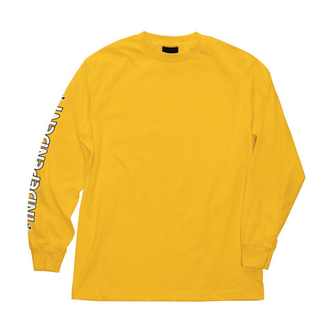INDEPENDENT BAR CROSS LONG SLEEVE TEE - GOLD