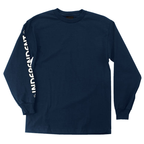 INDEPENDENT BAR CROSS LONG SLEEVE TEE - Navy