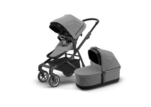 Thule Sleek | Grey Melange on Black (with Bassinet)