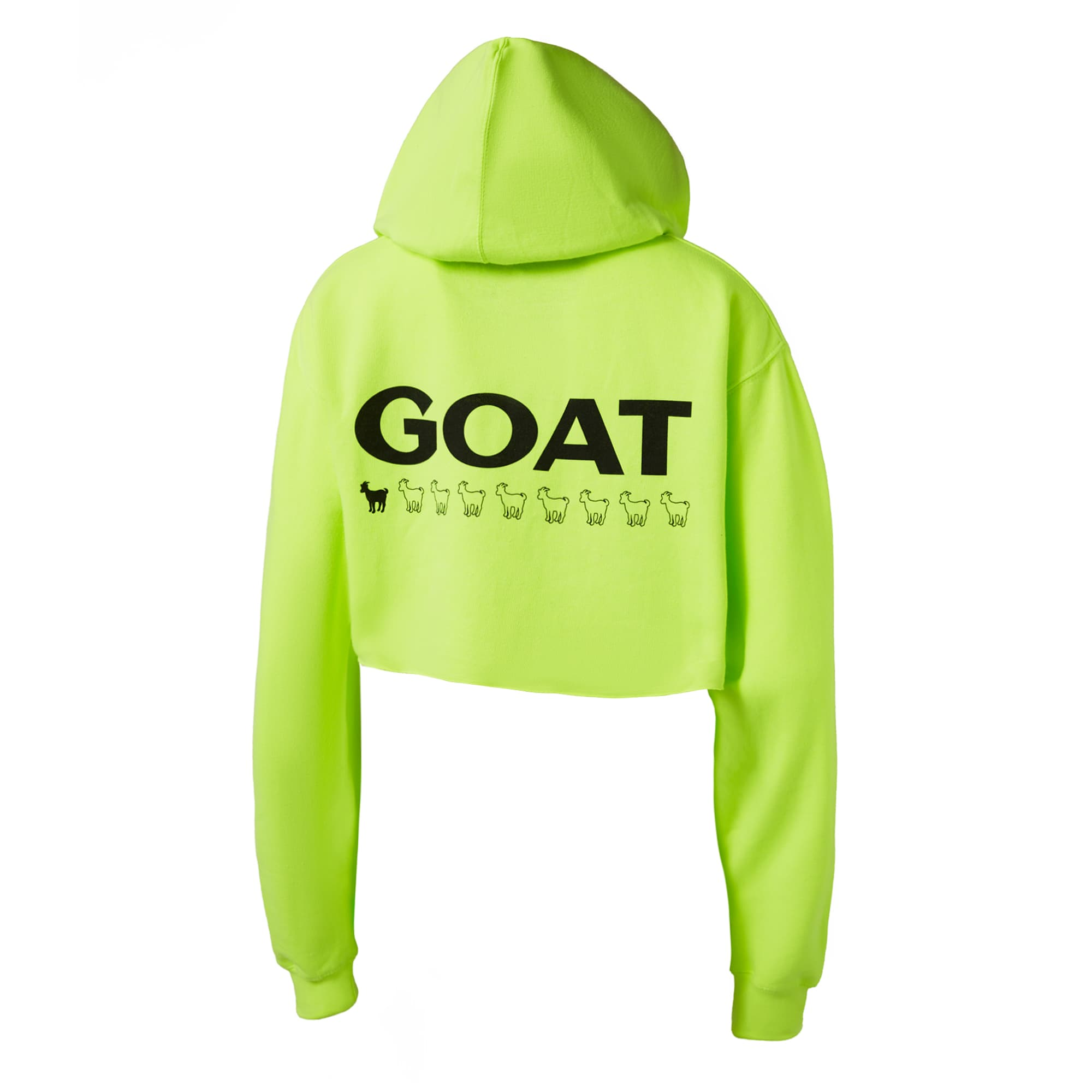 GOAT Women's Raw Edge Cropped Hoodie