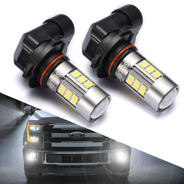 SEALIGHT 9145/9140/H10/9045/9040 LED Fog Lights Bulbs, DOT Approved, Xenon White 6000K, 27 SMD, 1 Yr Warranty (Pack of 2)
