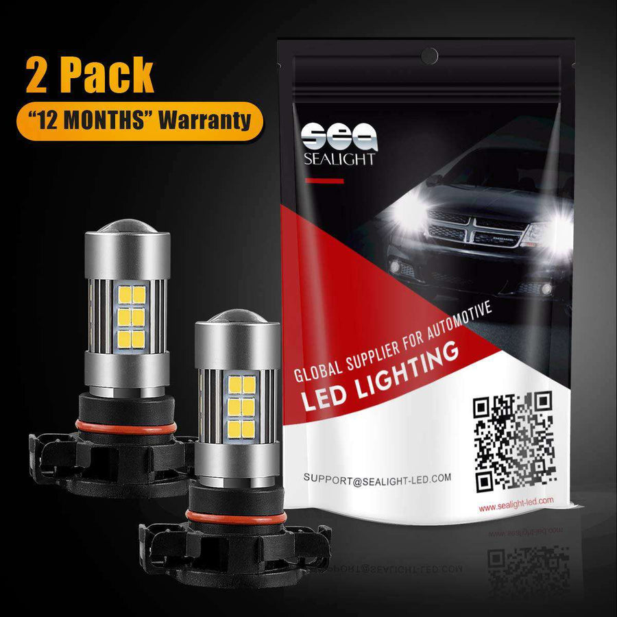 SEALIGHT 5202 LED Fog Lights Bulbs , DOT Approved, Xenon White 6000K, 27 SMD