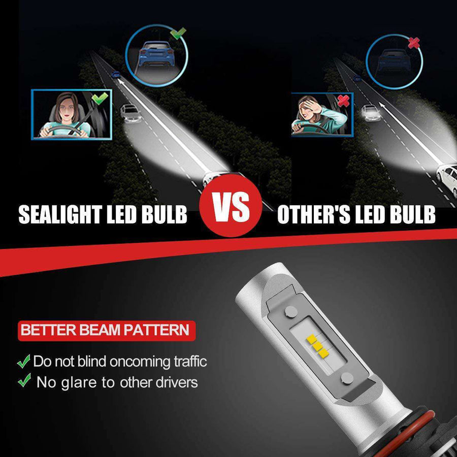 SEALIGHT X1 Series 9005/HB3 led headlight Bulbs - Brighter - 6000K White