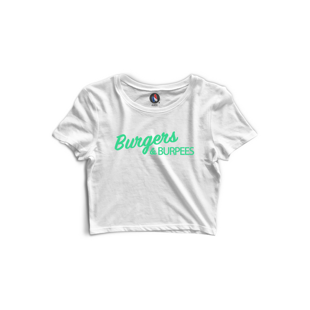 Crop top - Burgers & Burpees - Coton Bio & Made In France