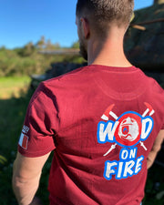 T-SHIRT HOMME - WOD ON FIRE - POMPIER