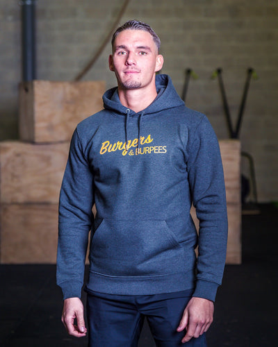 Sweat-shirt Homme - Burgers & Burpees  - Coton Bio & Polyester Recyclé