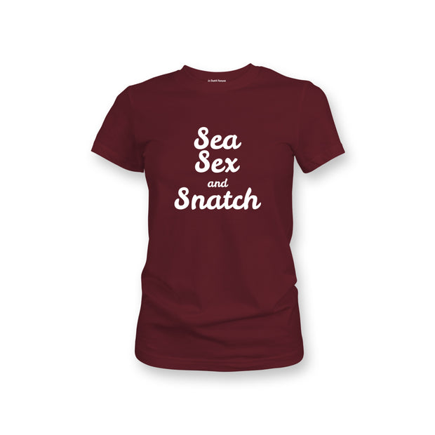 T-SHIRT FEMME - SEA SEX & SNATCH