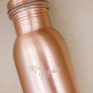 Coco Glo Personalised Ayurvedic Copper Bottle
