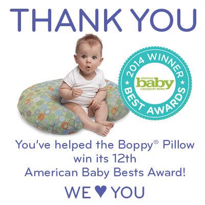 Boppy Pillow wins 12th American Baby Best Award!