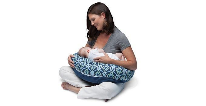 Boppy Two-Sided Nursing Pillow Featured in The Wise Baby Blog