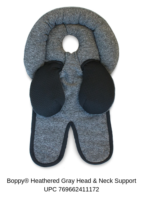 Boppy Heathered Gray Head & Neck Support - UPC 769662411172