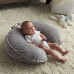 Feeding and Infant Support Pillow - Gray Lion