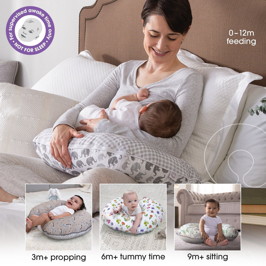 Nursing with Boppy Bare Naked Pillow