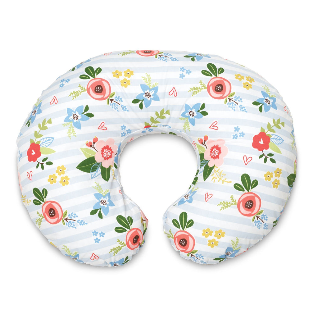Boppy<sup>®</sup> Original Feeding & Infant Support Pillow - Blue Pink Posy