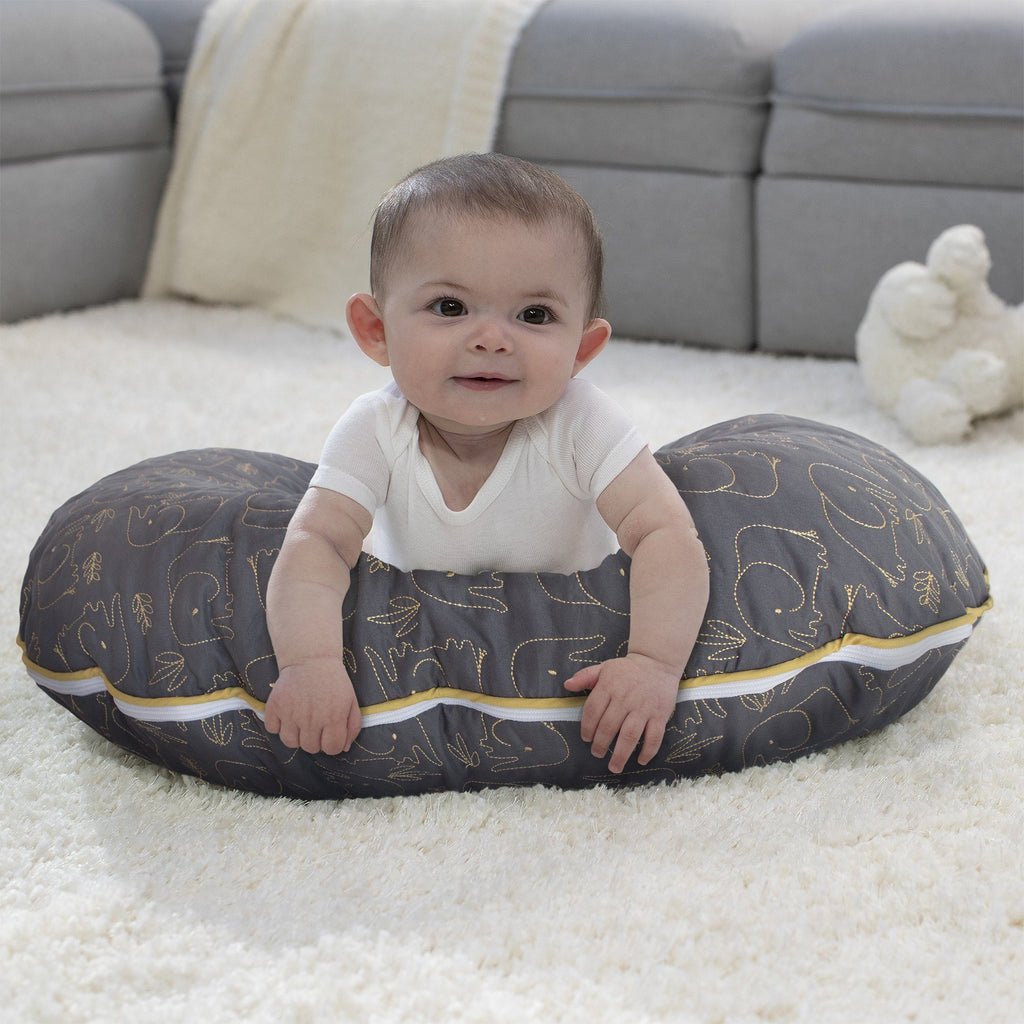 Charcoal Gold Quilted Elephant