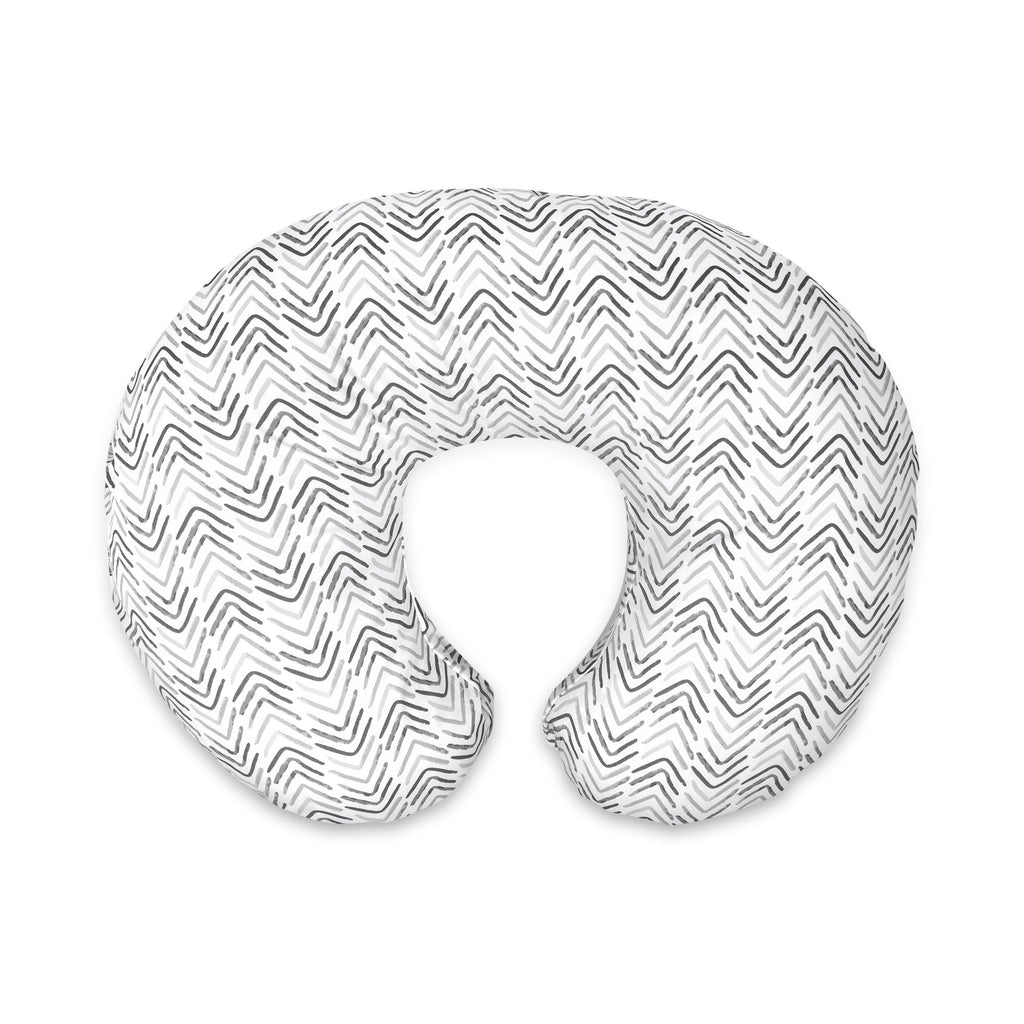 Boppy<sup>®</sup> Original Feeding & Infant Support Pillow - Gray Cable Stiches