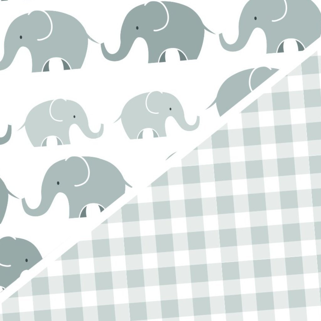 Boppy® Premium Cover in Gray Elephants Plaid