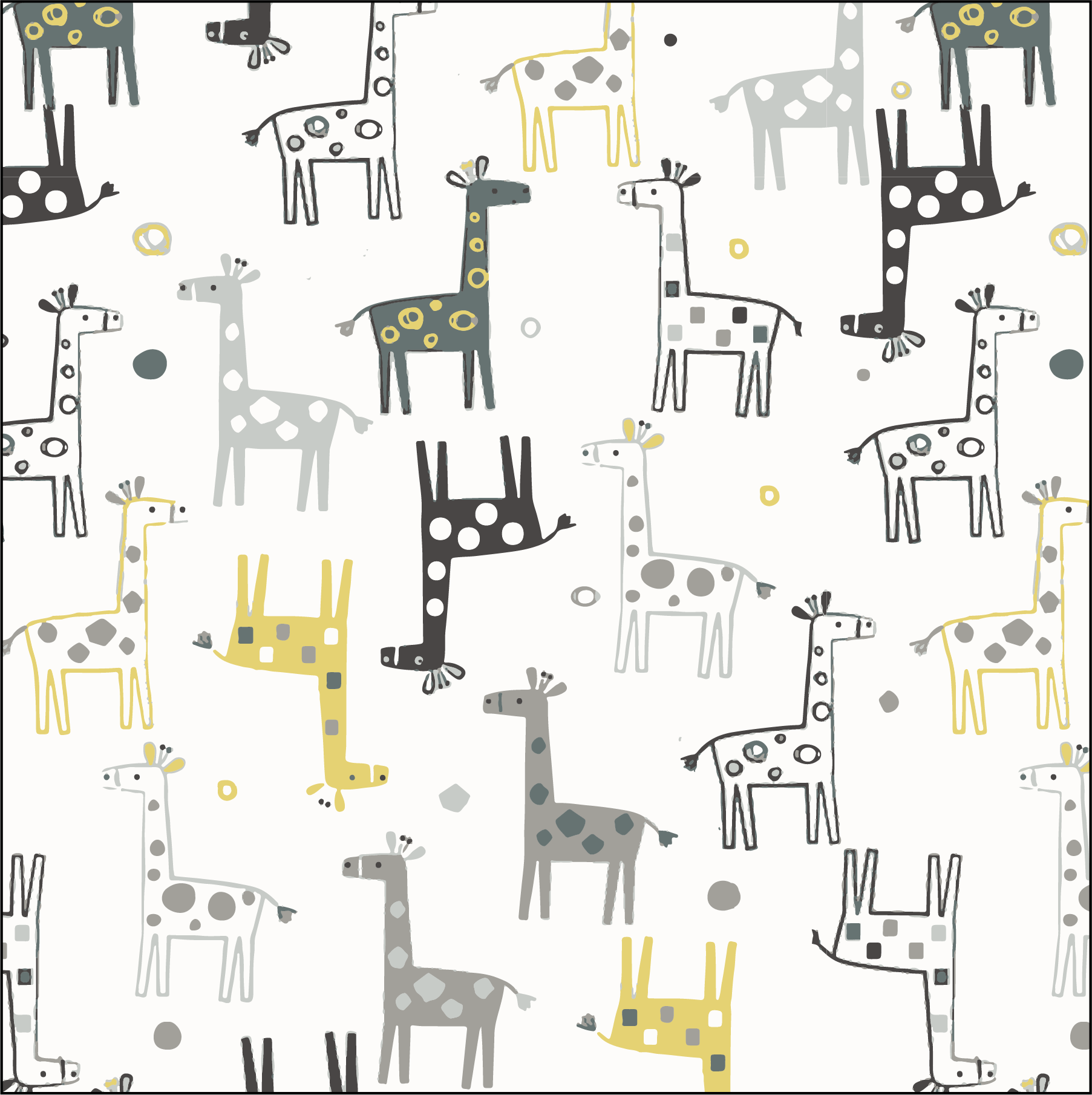 Gray Gold Giraffes