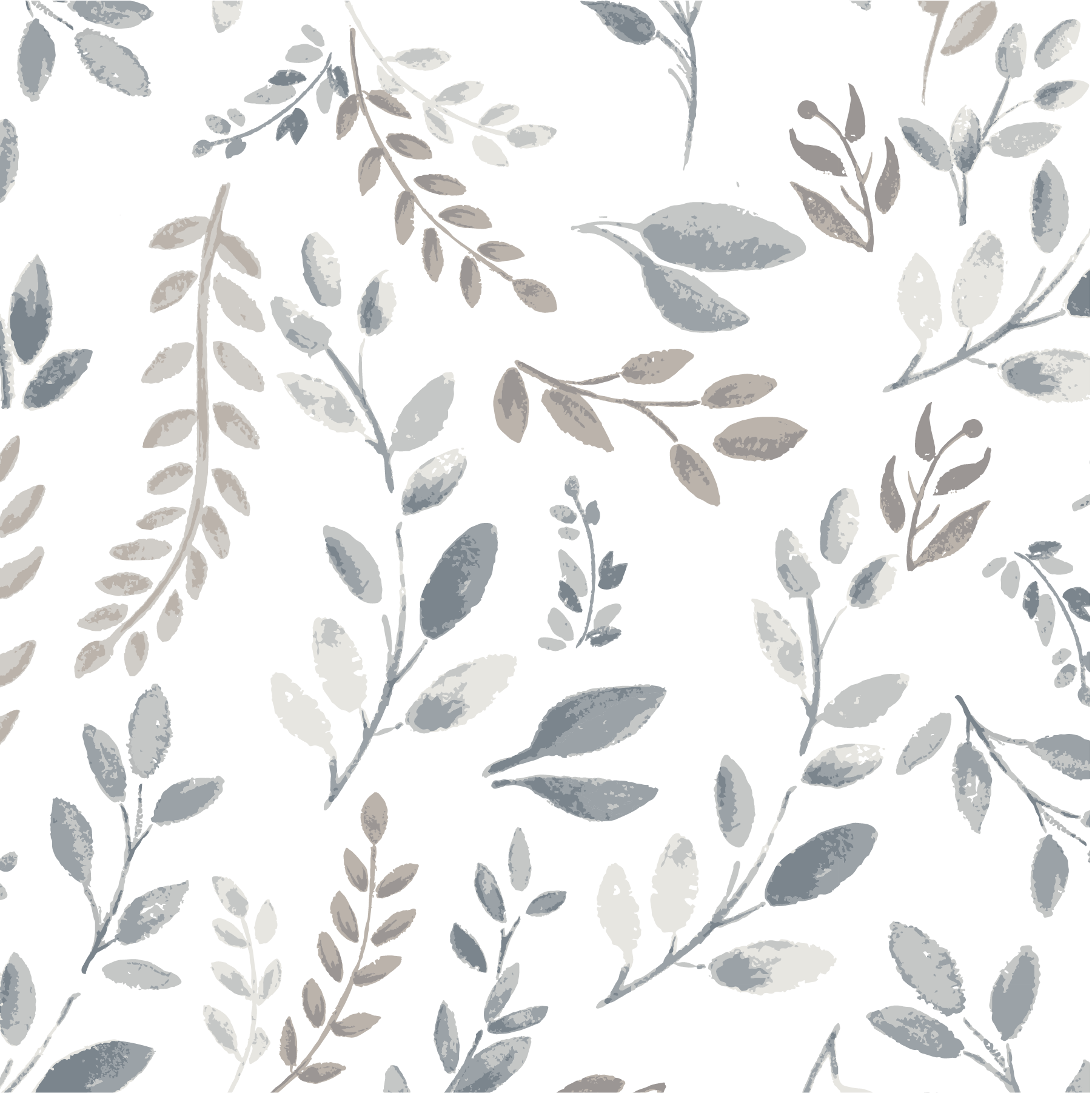 Gray Taupe Leaves