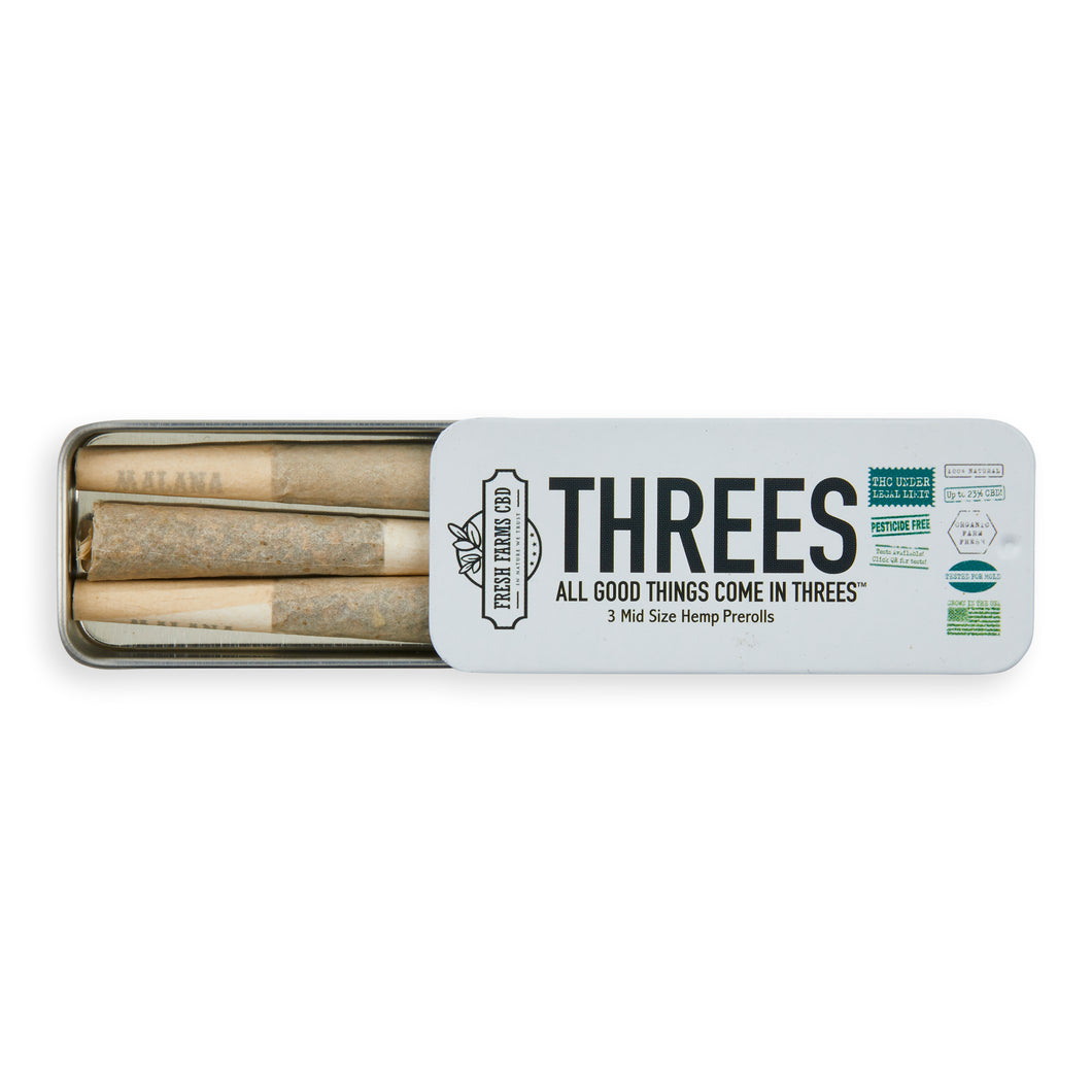 Three's Hemp Pre-Roll - Fresh Farms LLC