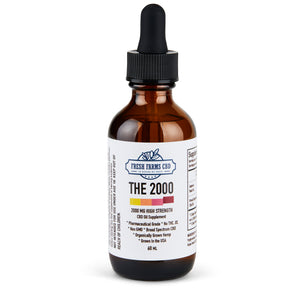 Blue Tincture Broad Spectrum CBD Oil (No THC) 500MG |1000MG | 2000MG | 5000MG - Fresh Farms LLC