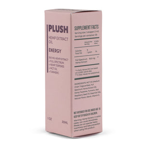 Plush ENERGY Specialized Full Spectrum CBD Oil Tincture 500MG - Fresh Farms LLC