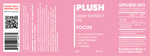 Plush FOCUS Specialized Full Spectrum CBD Oil Tincture 500MG - Fresh Farms LLC