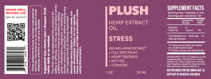 Plush STRESS Specialized Full Spectrum CBD Oil Tincture 500MG - Fresh Farms LLC