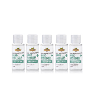 Deep Moisturizing Hand Sanitizer Unscented 75% Isopropyl Alcohol 5-Pack - Fresh Farms LLC