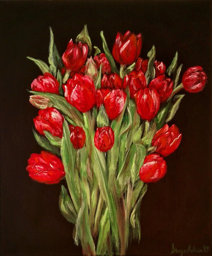 A Bouquet  Of Tulips by Adrianna Dragomir