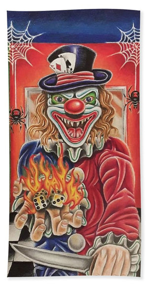 Crazy Clown By Kyle Dunnuck - Bath Towel