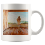 Sun kissed coffee mug by Adrianna Dragomir