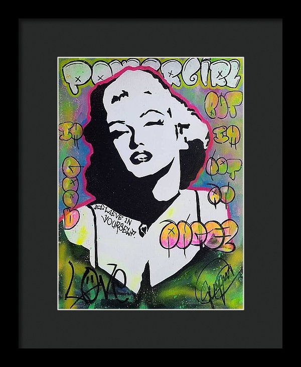 Marilyn Monroe By Yidah Expositox - Framed Print