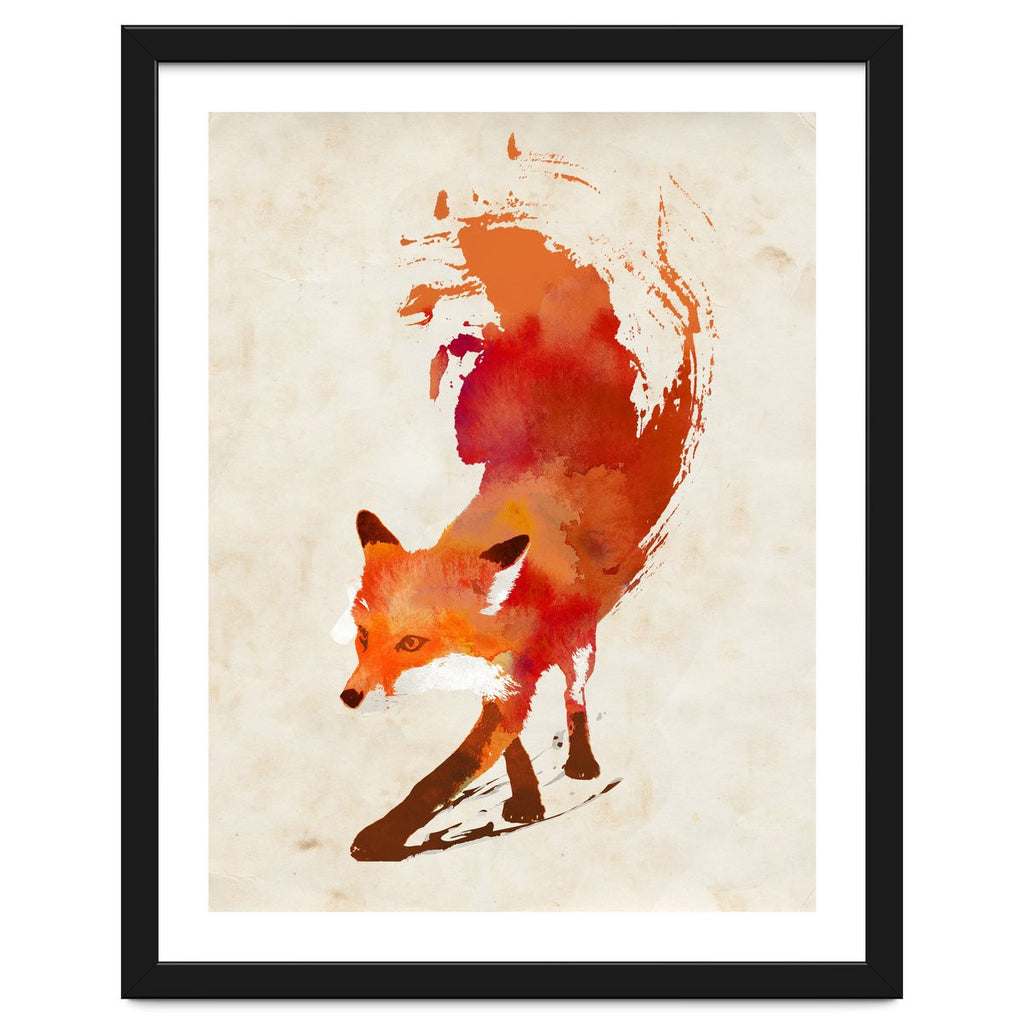 Vulpes Vulpes Framed Artwork by Robert Farkas