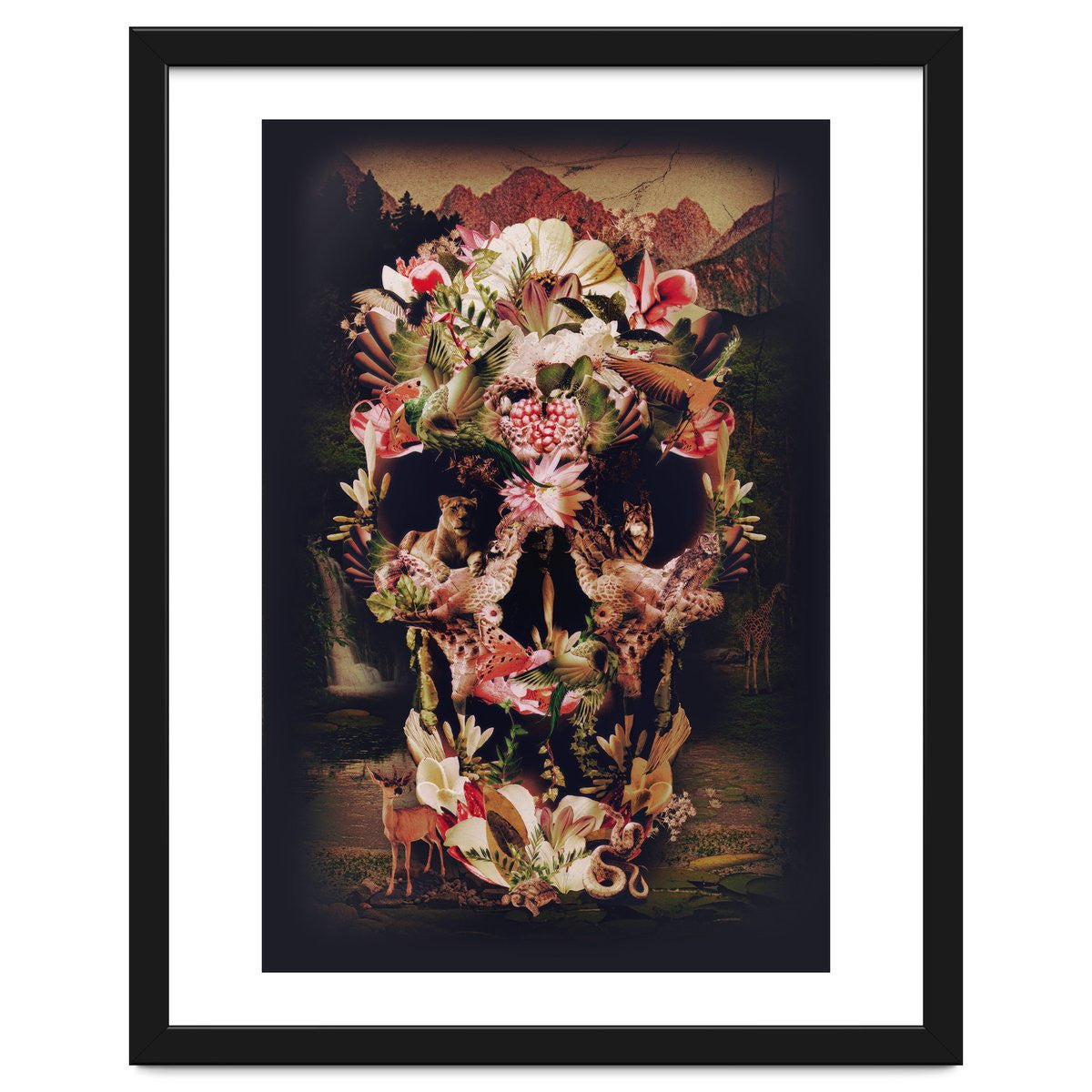 Jungle Skull Framed Artwork by Ali GULEC