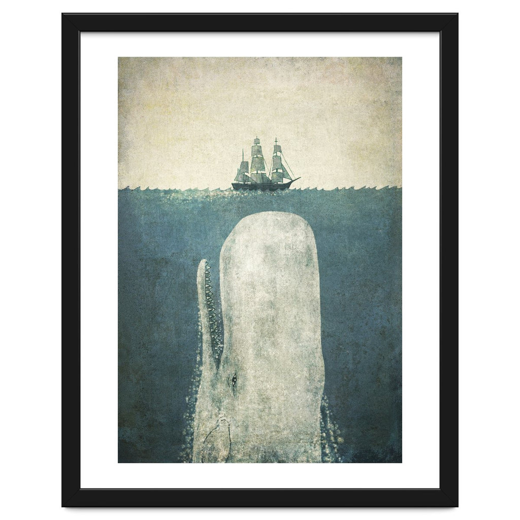 White Whale Framed Artwork by Terry Fan