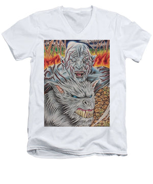 White Orc By Kyle Dunnuck - Men's V-Neck T-Shirt