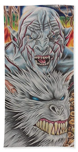 White Orc By Kyle Dunnuck - Beach Towel