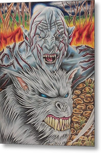 White Orc By Kyle Dunnuck - Metal Print