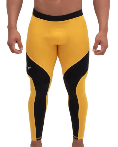 yellow and black meggings