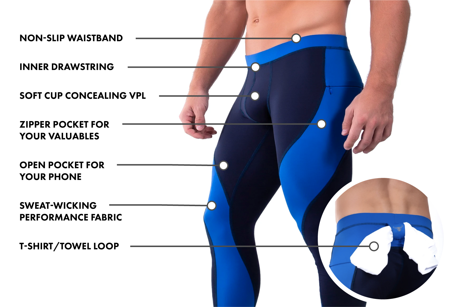 Matador Meggings features chart.