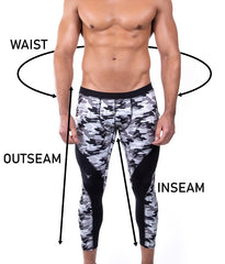 Size definitions image for meggings