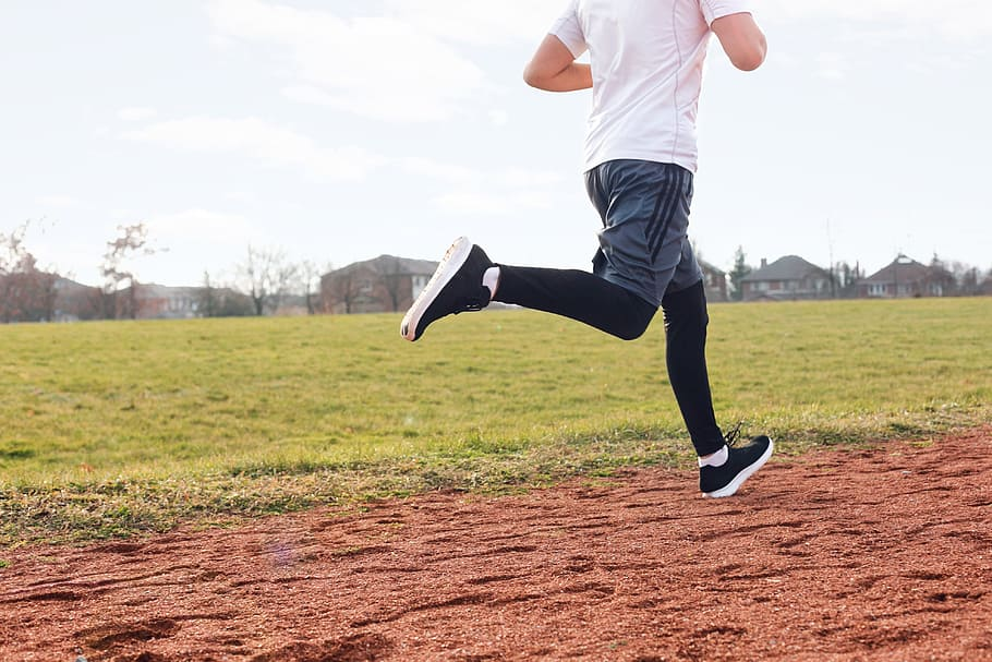 Man running for exercise
