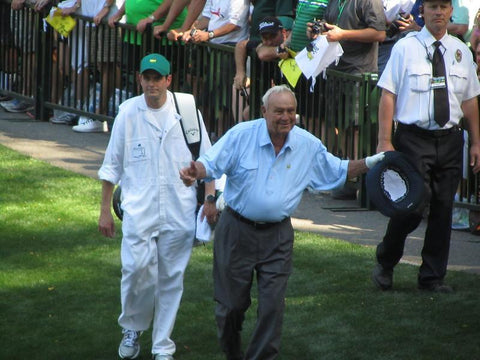 arnold palmer at the masters par 3 tournament