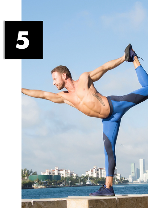 Man stretching wearing matador meggings