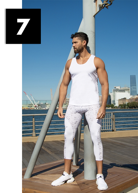 Man posing wearing matador meggings